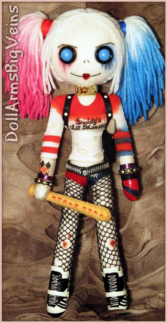 Suicide squad harley quinn clipart svg black and white download Quinn Suicide Squad handmade doll svg black and white download