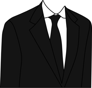 Suit black and white clipart clip black and white Black Suit Clip Art at Clker.com - vector clip art online ... clip black and white