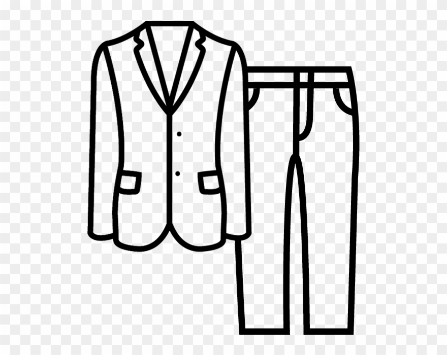 Suit black and white clipart svg transparent library Suits - Jacket Clipart (#301826) - PinClipart svg transparent library