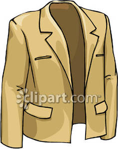 Suit jacket clipart vector royalty free A Tan Suit Jacket Royalty Free Clipart Picture vector royalty free