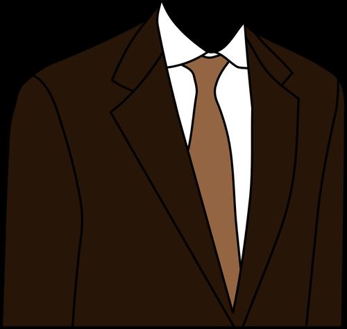 Suit jacket clipart black and white stock Brown suit jacket vector clip art   Public domain vectors black and white stock