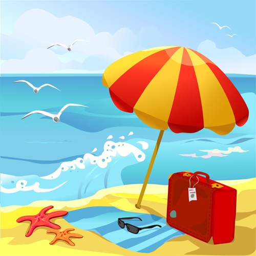 Summer beach clipart images picture free library Free Summer Beach Cliparts, Download Free Clip Art, Free ... picture free library