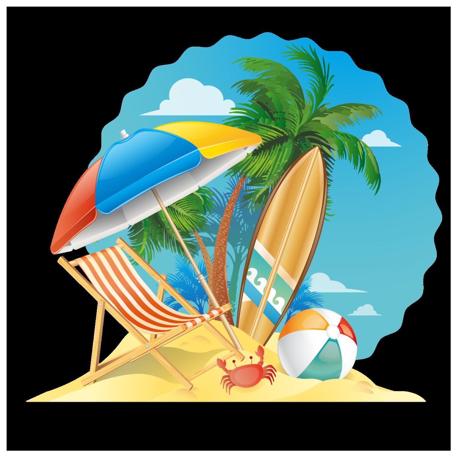 Summer beach scene clipart png library Summer Beach Scene Window Cling png library