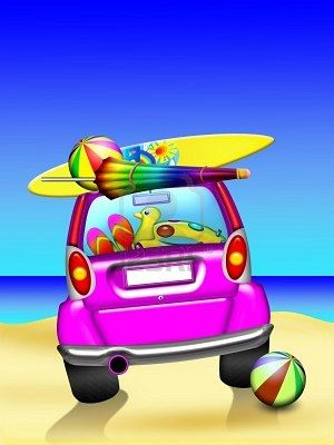 Summer cars clipart png black and white stock Stock Photo | Travel | Summer clipart, Holiday, Happy summer ... png black and white stock