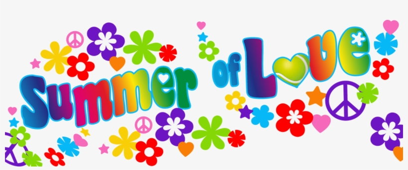 Summer clipart banner clip black and white Clipart Banner Summer - Summer Of Love Clipart Transparent ... clip black and white