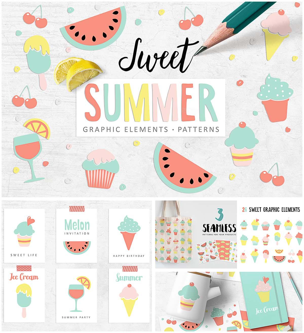 Summer clipart cute svg transparent download Sweet summer cute clipart | Free download svg transparent download