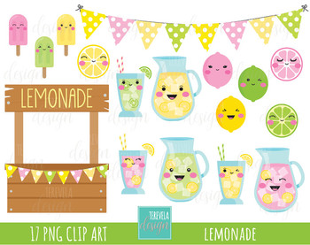 Summer clipart cute image free stock 50% SALE LEMONADE clipart, summer clipart, kawaii lemon, kawaii, cute image free stock