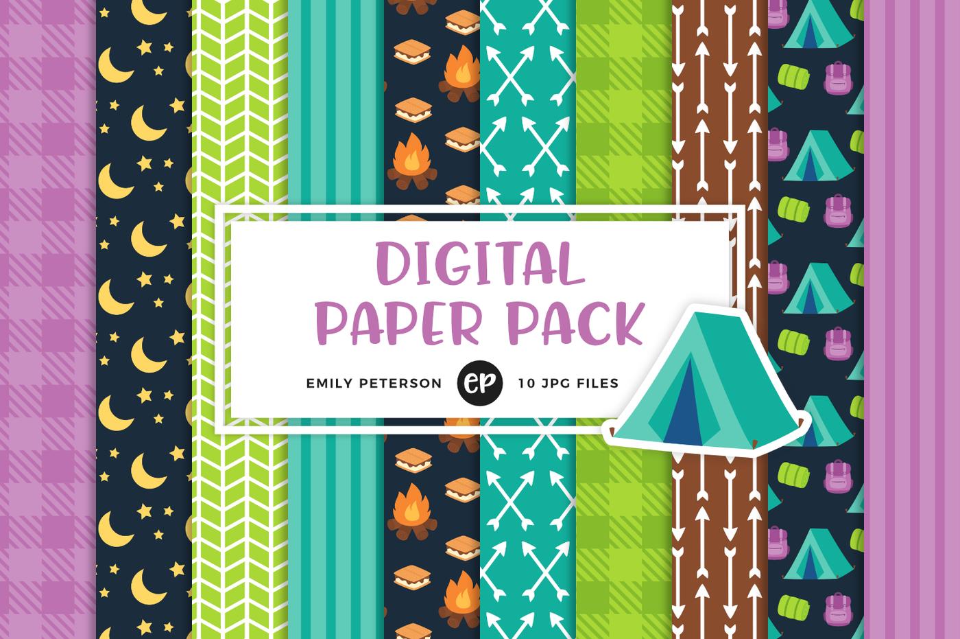 Summer clipart digital paper jpg download Summer Clipart/Digital Papers Bundle By Emily Peterson ... jpg download