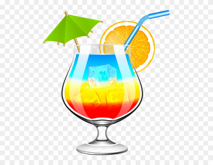 Summer clipart drink black and white Cocktail Coloré - Summer Drinks Clip Art - Png Download ... black and white