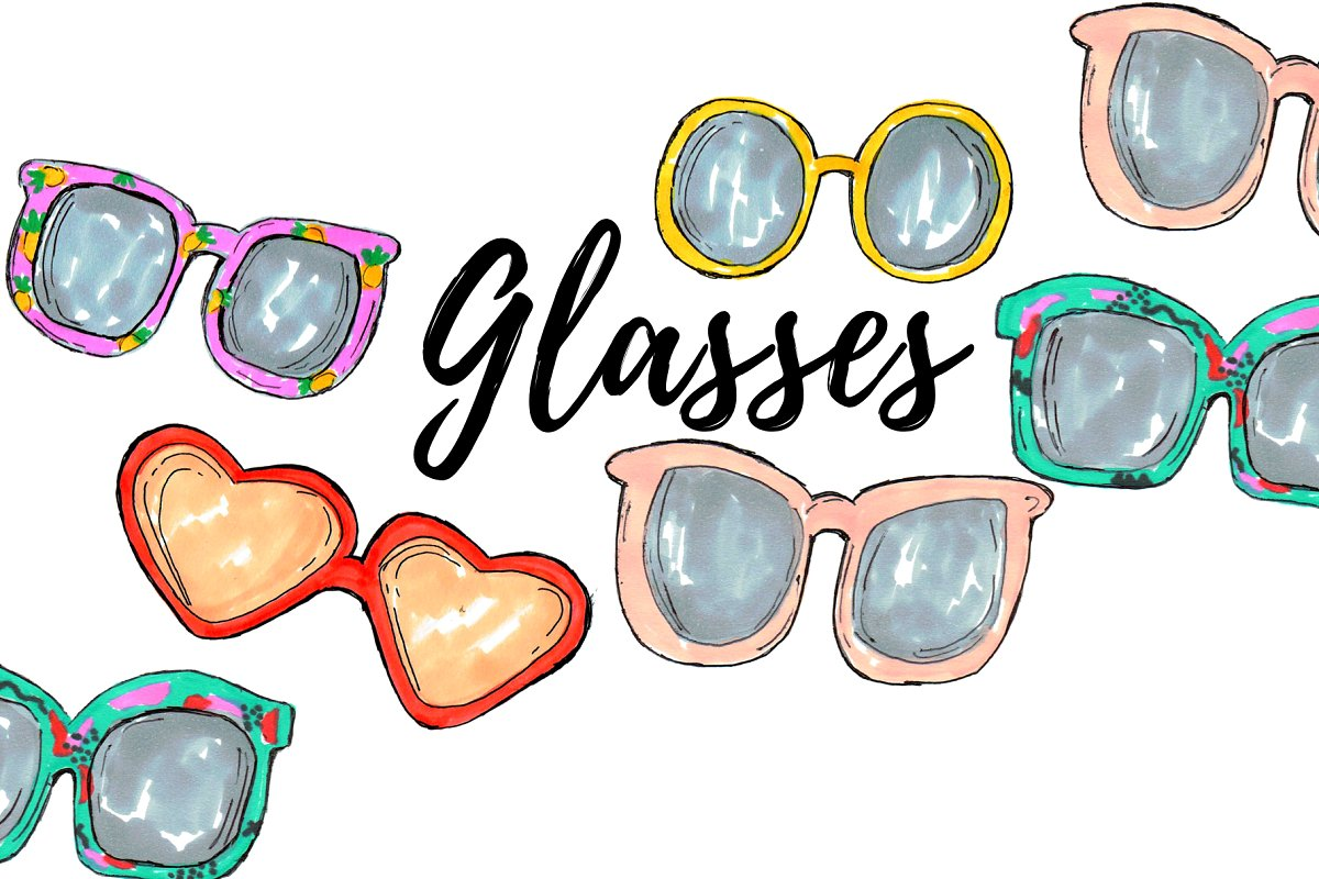 Summer clipart sunglasses