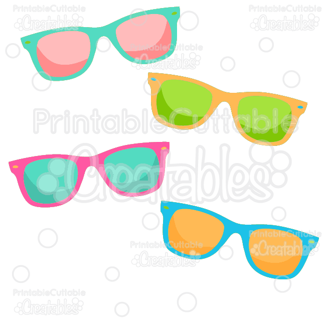 Summer clipart sunglasses picture download Summer Sunglasses Free SVG Cut File & Clipart picture download