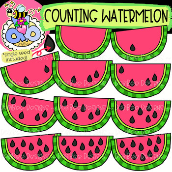 Summer clipart watermelon graphic freeuse download Counting Watermelon: Summer Clipart {DobiBee Designs} graphic freeuse download