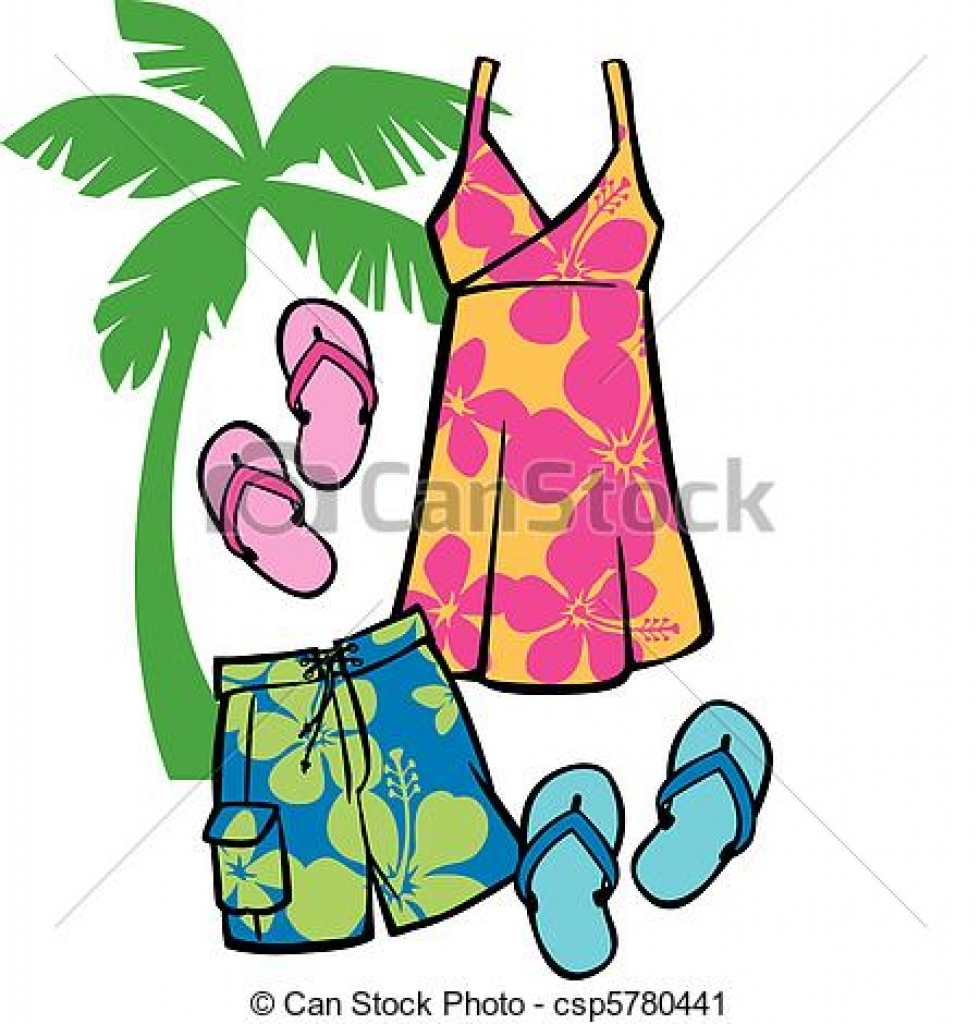 Summer clothes clipart free png black and white Summer Clothing Clipart | Free download best Summer Clothing ... png black and white