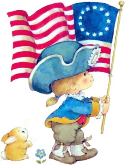 Summer flag fourth clipart clipart freeuse Boy with flag | Clip Art: Patriotic | 4th of july clipart ... clipart freeuse