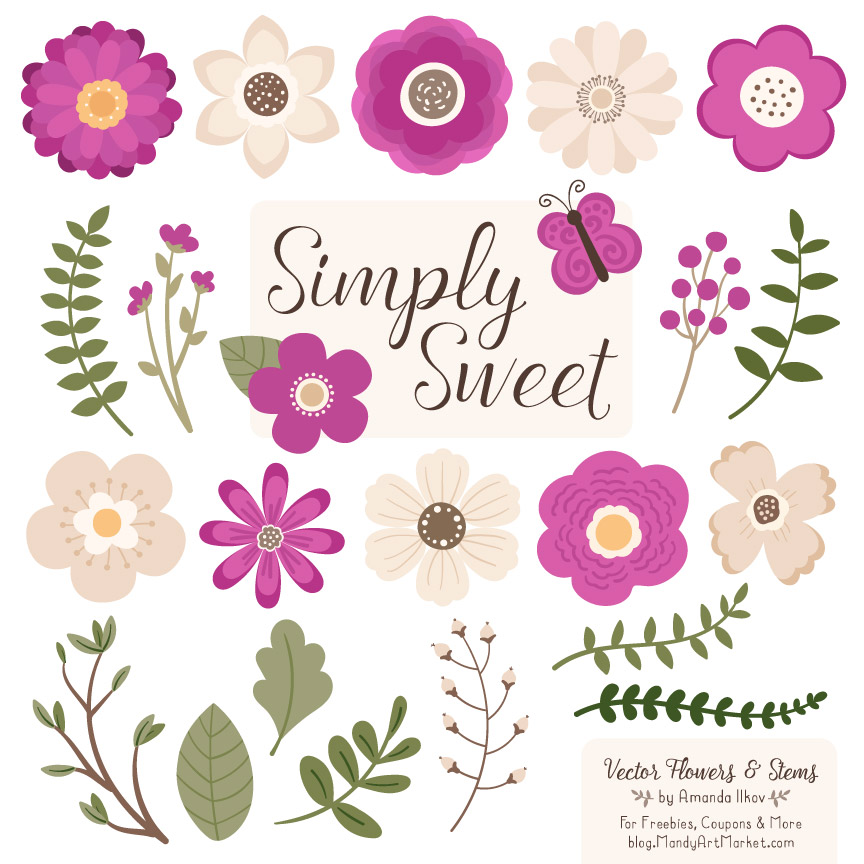 Summer flowers in purple and fuschia clipart png transparent Fuchsia Flower Clipart & Vectors png transparent