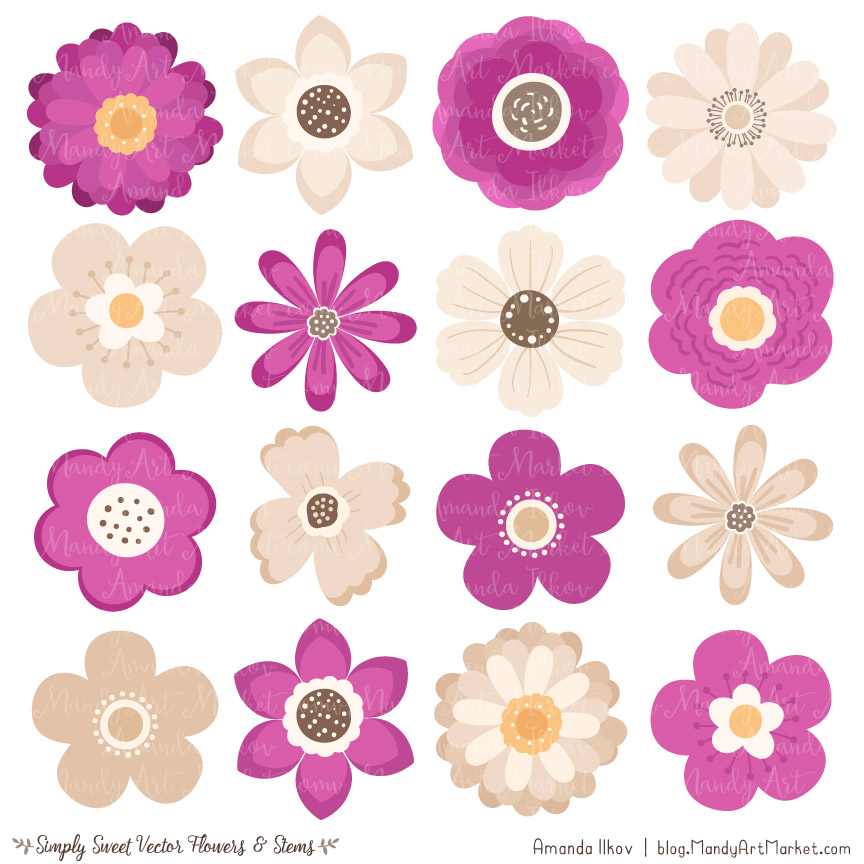 Summer flowers in purple and fuschia clipart clip transparent library Fuchsia Flower Clipart & Vectors clip transparent library