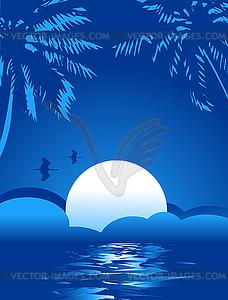 Summer night clipart banner free Summer Night - vector image banner free