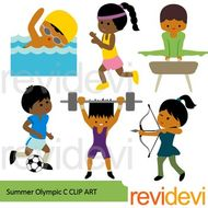 Summer olympic sports clipart