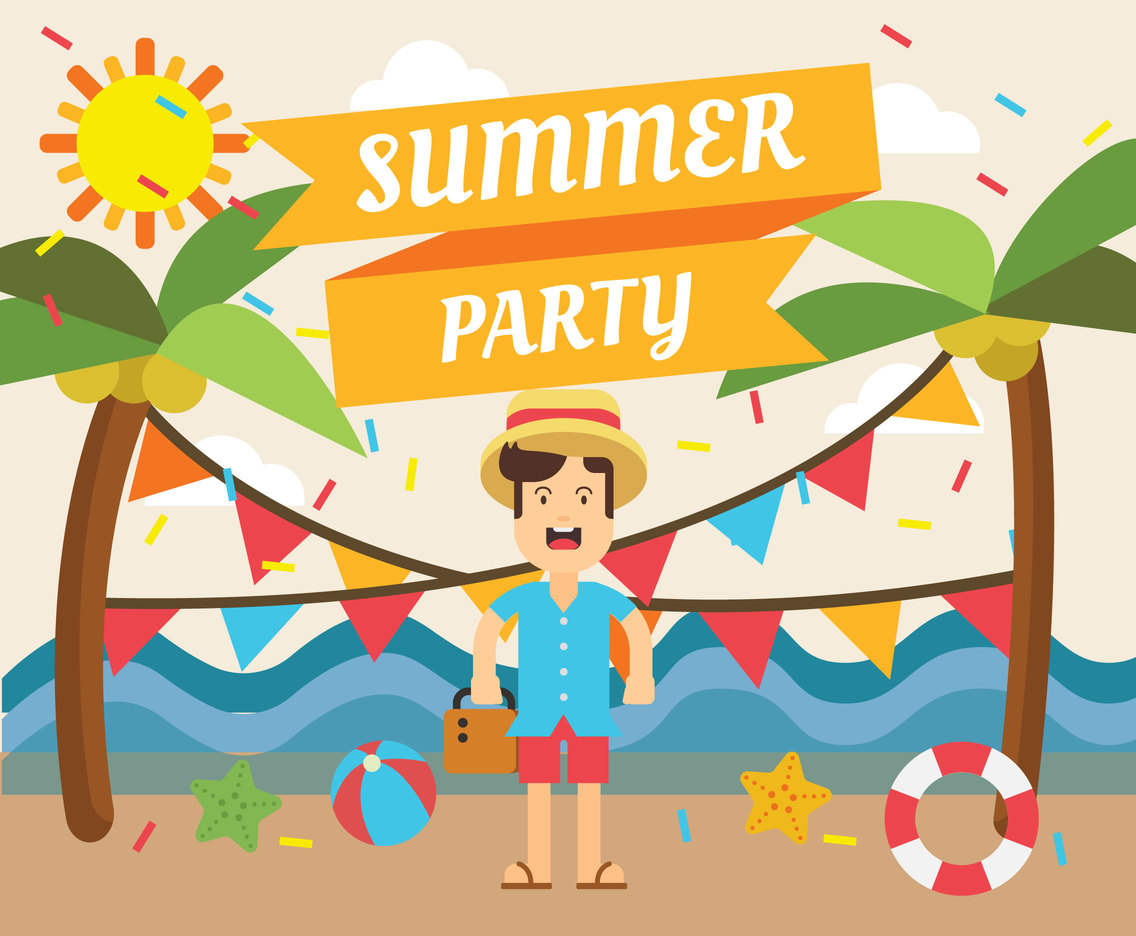 Summer party clipart free clipart download Summer Party Illustration Free Vector - Free Vectors and ... clipart download