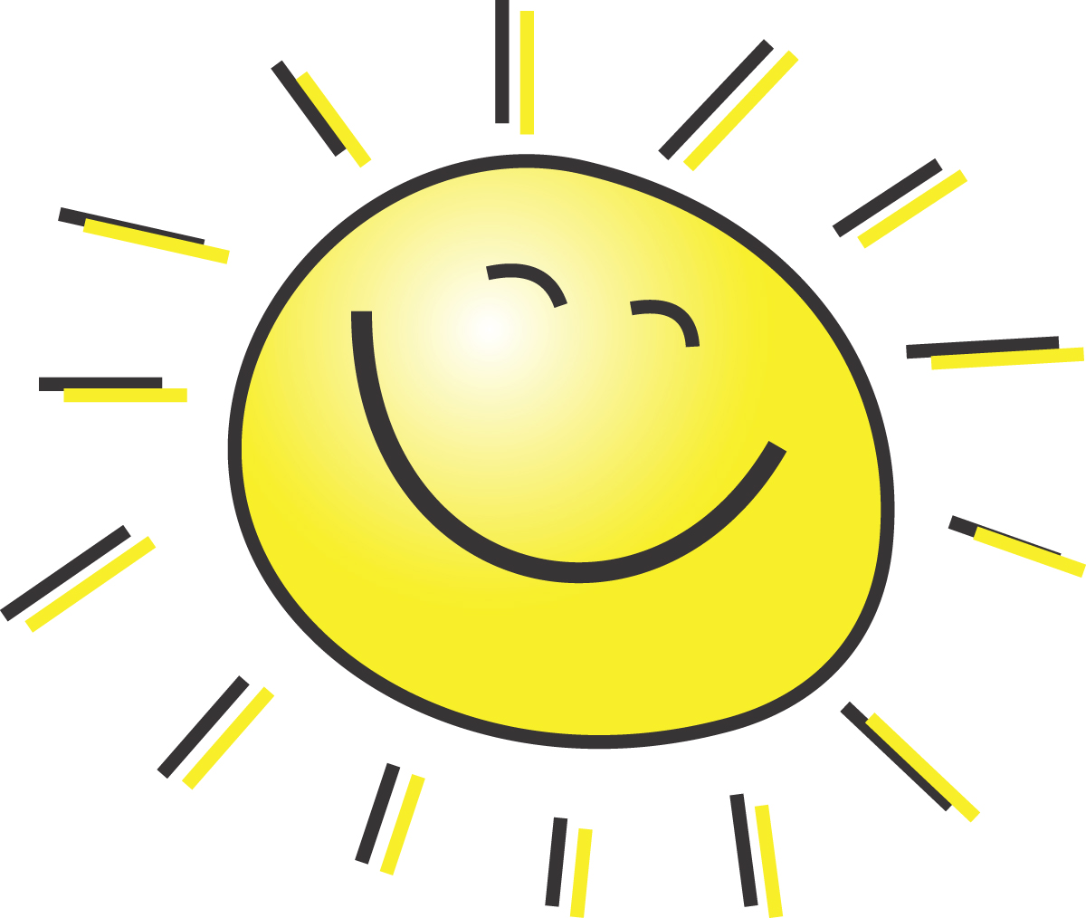 Summer pictures clip art clip freeuse stock Summer Clipart Illustration Of A Happy Smiling Sun clip freeuse stock