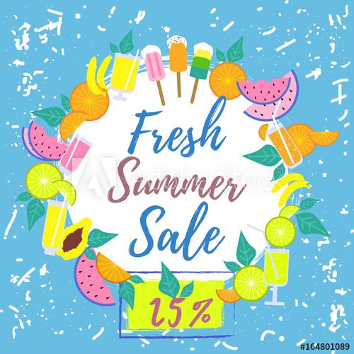 Summer sale clipart 25 png stock Summer poster, flyer, banner. \