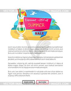 Summer sale clipart 25 banner free download Refreshing Drink Web Online Page Coastline - vector clip art banner free download