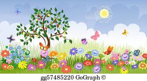 Summer season clipart jpg black and white Summer Season Clip Art - Royalty Free - GoGraph jpg black and white