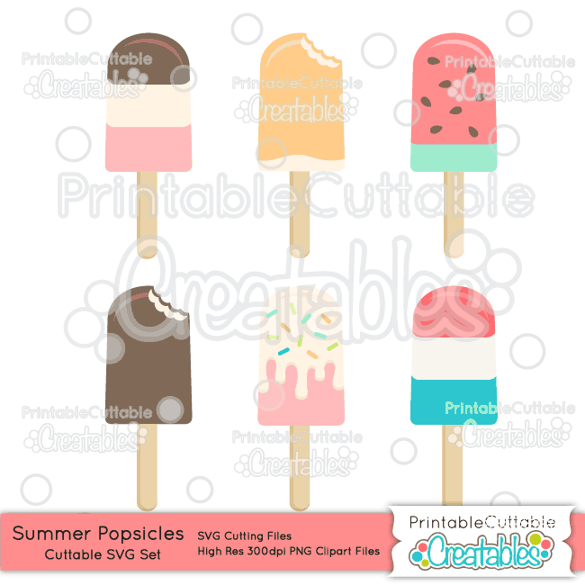 Summer silhouette clipart clip art free download Summer Popsicles SVG File & Clipart Set for Silhouette Cameo ... clip art free download