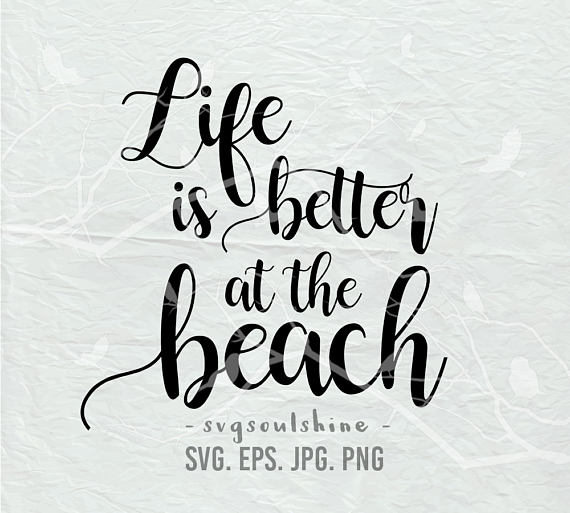 Summer silhouette clipart jpg library Beach SVG File Life is better at the beach Svg Summer ... jpg library
