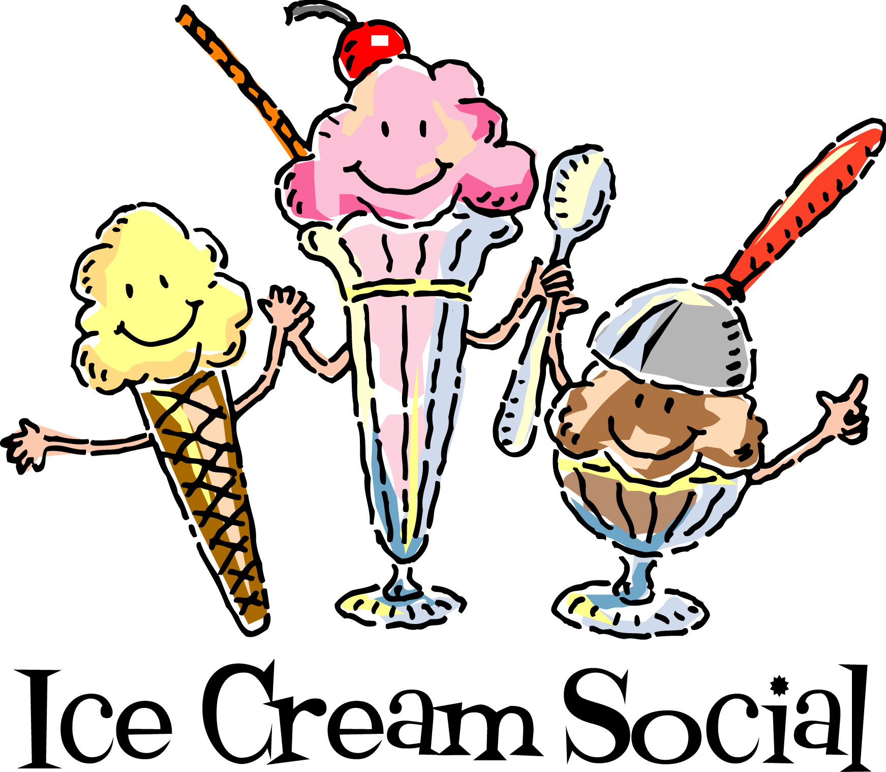Summer social clipart free stock End of Summer Ice Cream Social | TCHA free stock