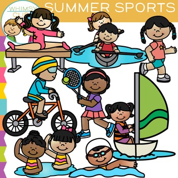 Summer sports clipart svg black and white library Summer Sports Clip Art svg black and white library