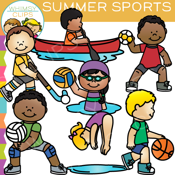 Summer sports clipart svg freeuse download Kids Sports Clipart | Free download best Kids Sports Clipart ... svg freeuse download