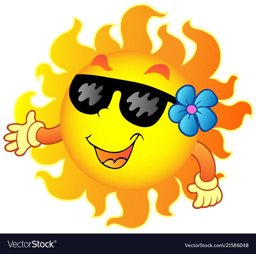 Summer sun clipart free banner transparent library Happy summer sun 1 banner transparent library