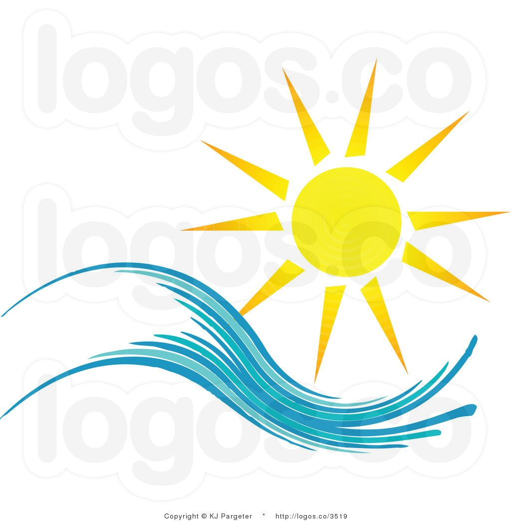 Sun clipart logo image royalty free library Free Summer Clip Art | Royalty Free Summer Sun and Wave Logo ... image royalty free library