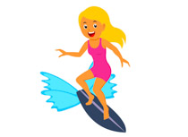 Summer surfing clipart picture royalty free stock Sports Clipart - Free Surfing Clipart to Download picture royalty free stock
