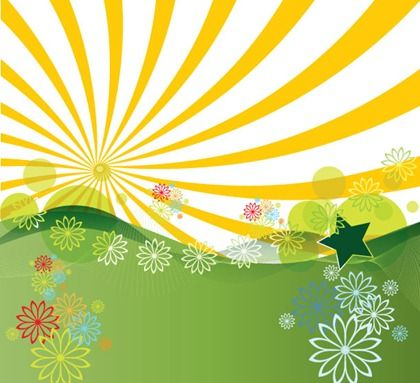 Summer time background clipart graphic freeuse free clipart summertime | Free Vector Summer Landscape ... graphic freeuse