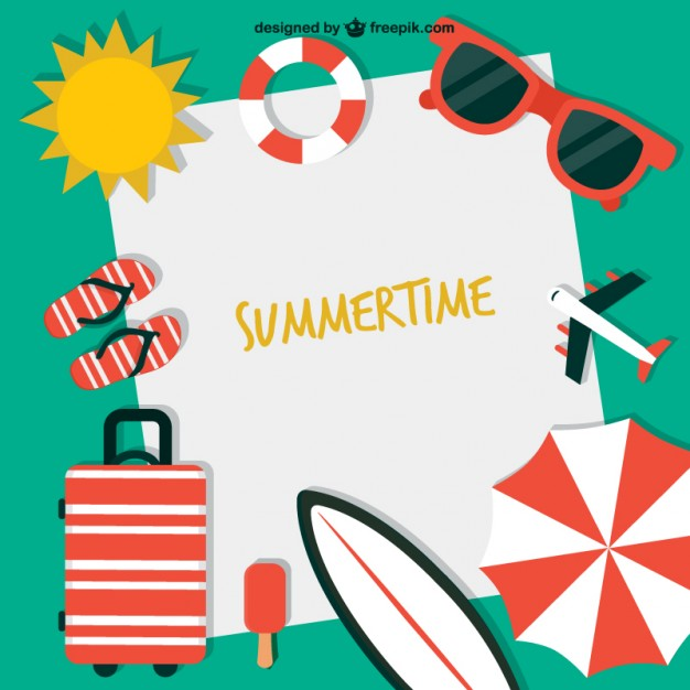 Summer time background clipart banner freeuse library Summertime background Vector | Free Download banner freeuse library
