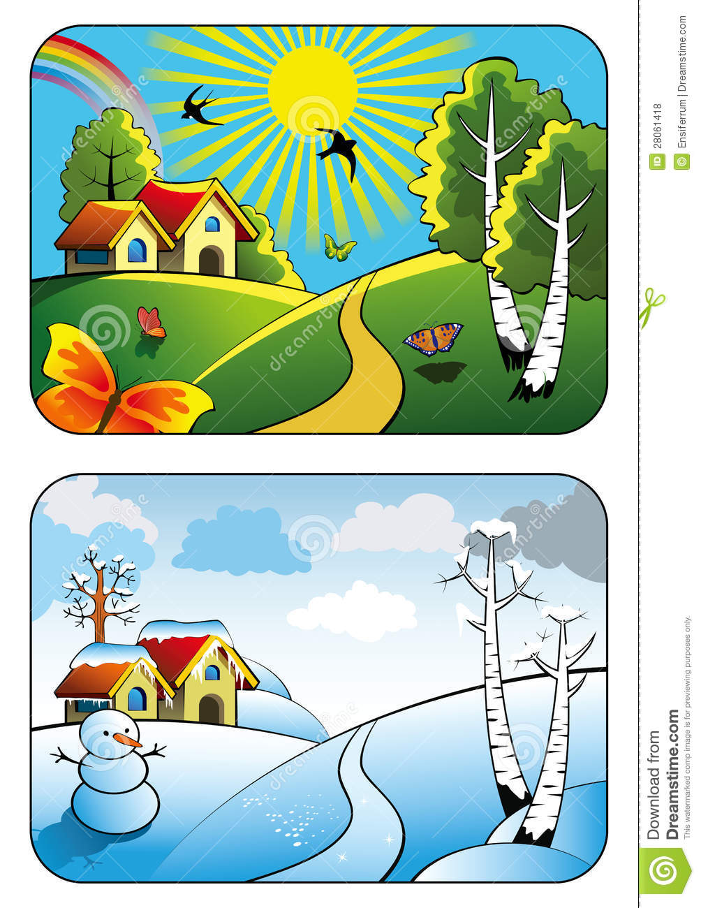 Summer vs winter clipart png freeuse download Summer vs winter clipart - ClipartFest png freeuse download