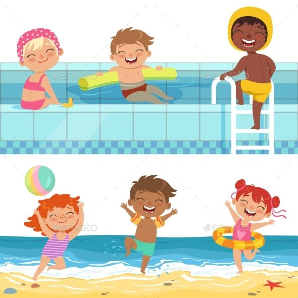 Summer water play clipart svg transparent download Summer Water Games in Aquapark | Design Ideas | Water games ... svg transparent download