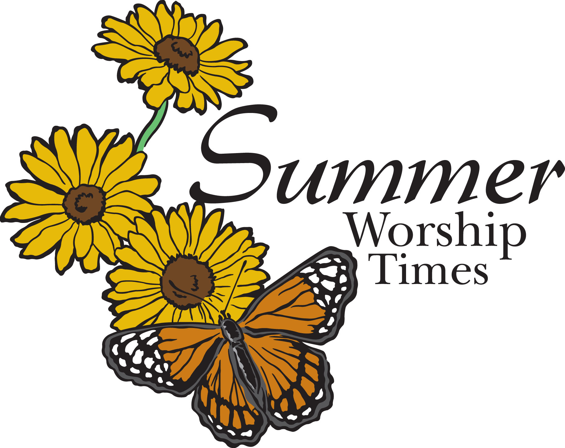 Summer worship clipart picture free library SUMMER WORSHIP SCHEDULE - Clip Art Library picture free library