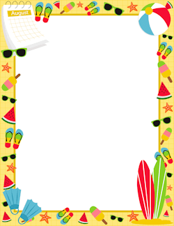 Summertime clipart borders png royalty free download Free Summer Borders: Clip Art, Page Borders, and Vector Graphics png royalty free download