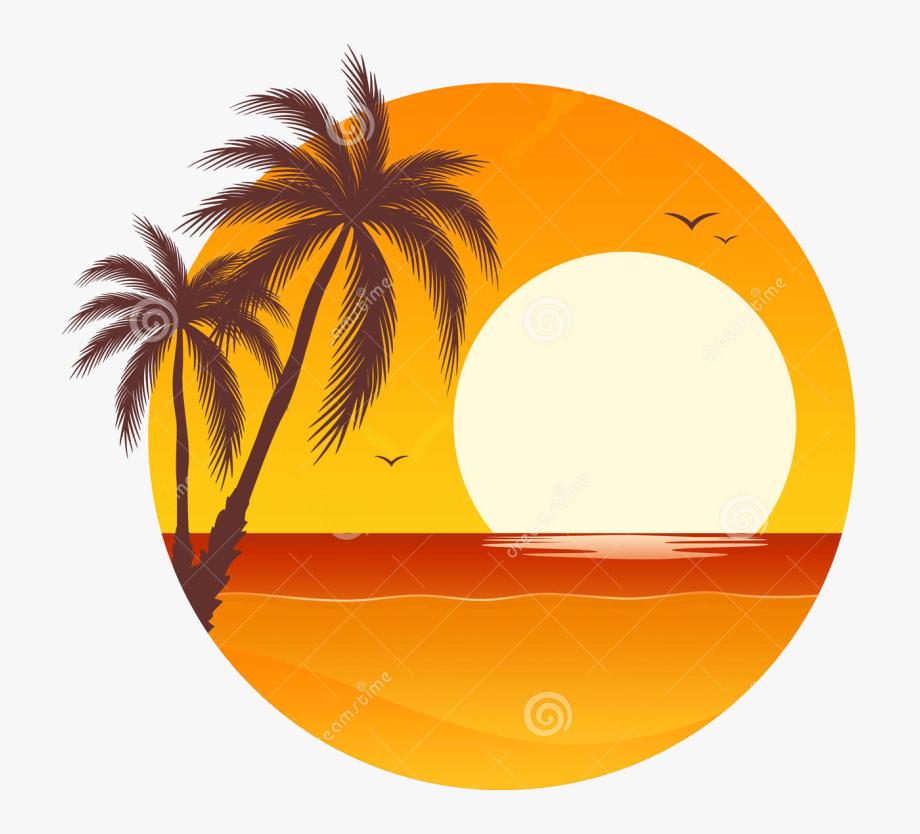 Sumset clipart jpg transparent download Palm Tree Sunset Clipart 400 Pixel By 150 Pxl - Palm Tree ... jpg transparent download