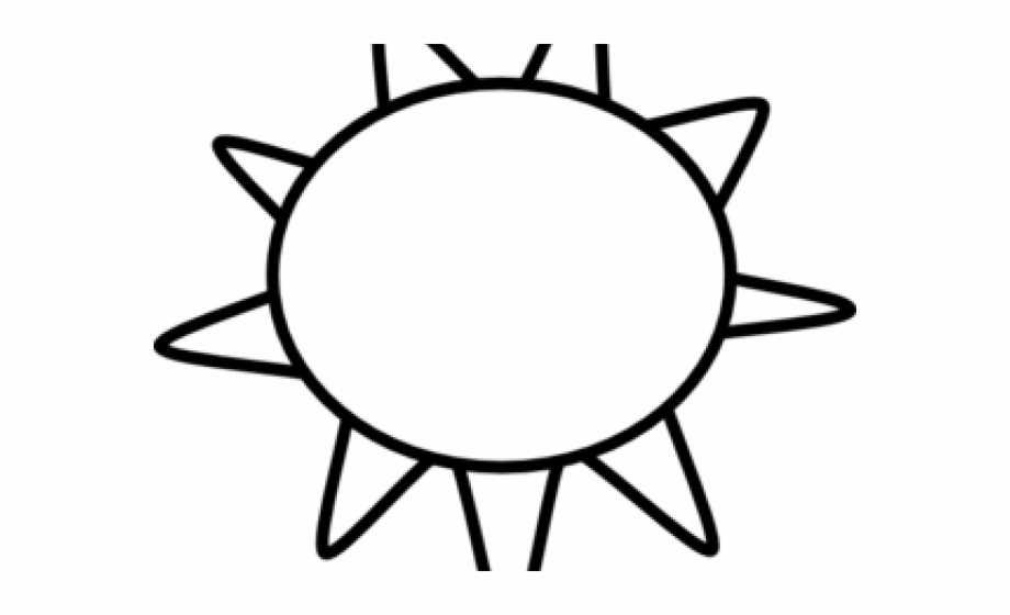 Sun above house clipart black and white graphic black and white library Sun Clipart Clipart Outline - Sun And Clouds Black And White ... graphic black and white library