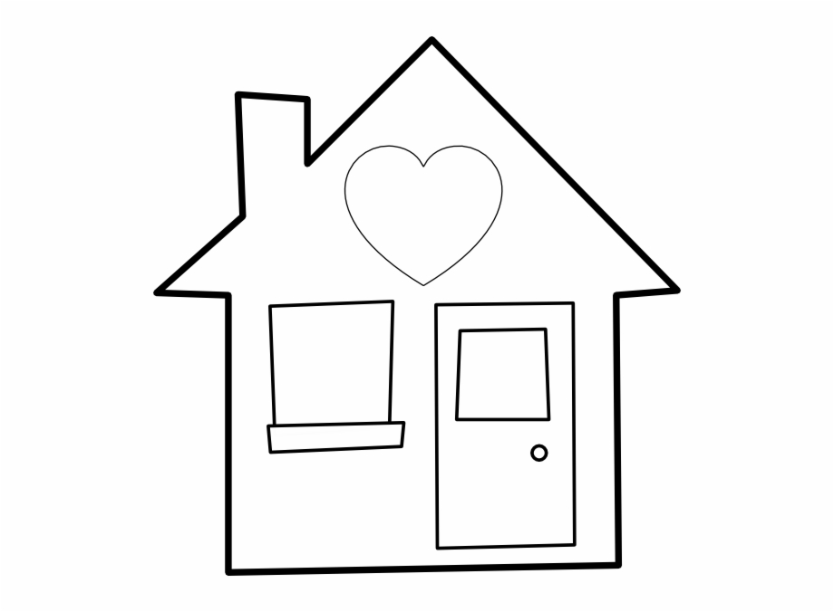 Sun above house clipart black and white vector library library Of The Home Png - House Clipart Black And White Free - home ... vector library library