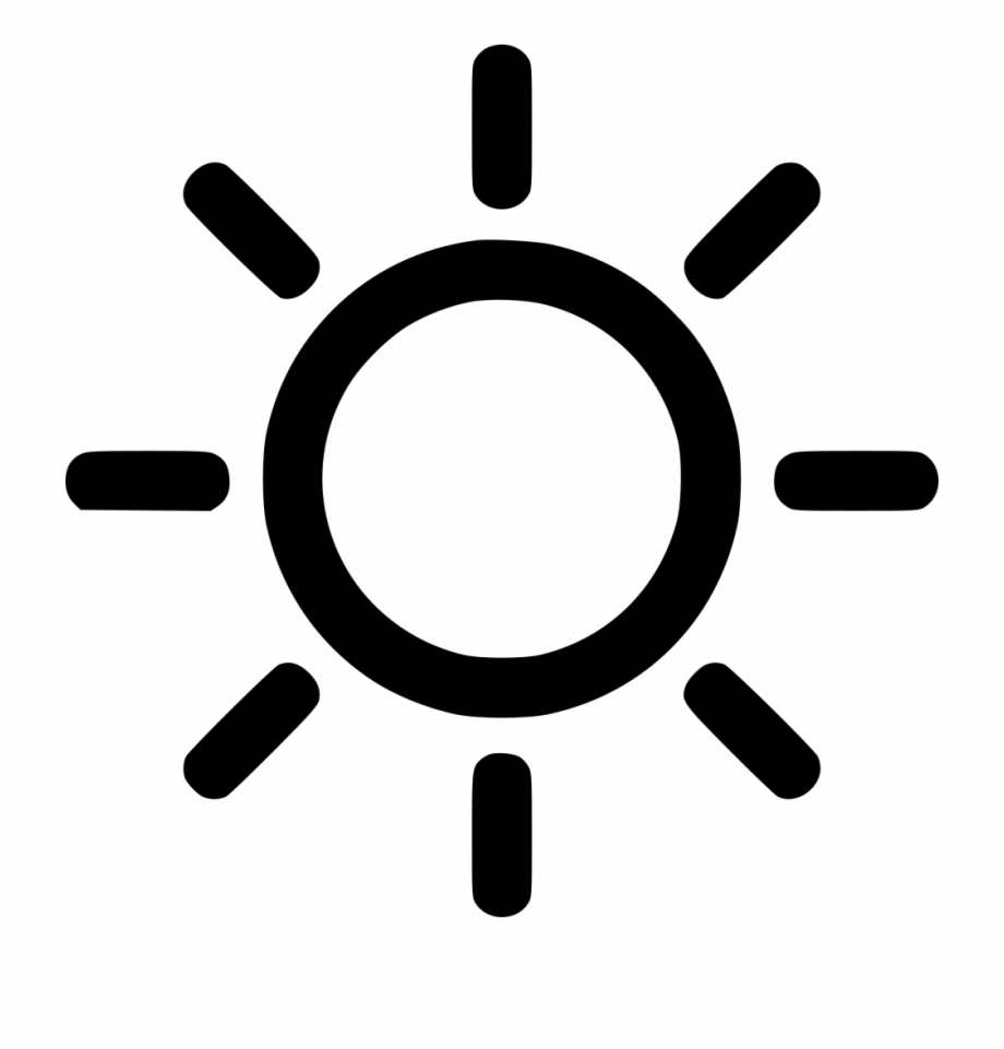 Sun above house clipart black and white vector freeuse download Png File - Outline Cartoon Sun - sunny icon png, Free PNG ... vector freeuse download