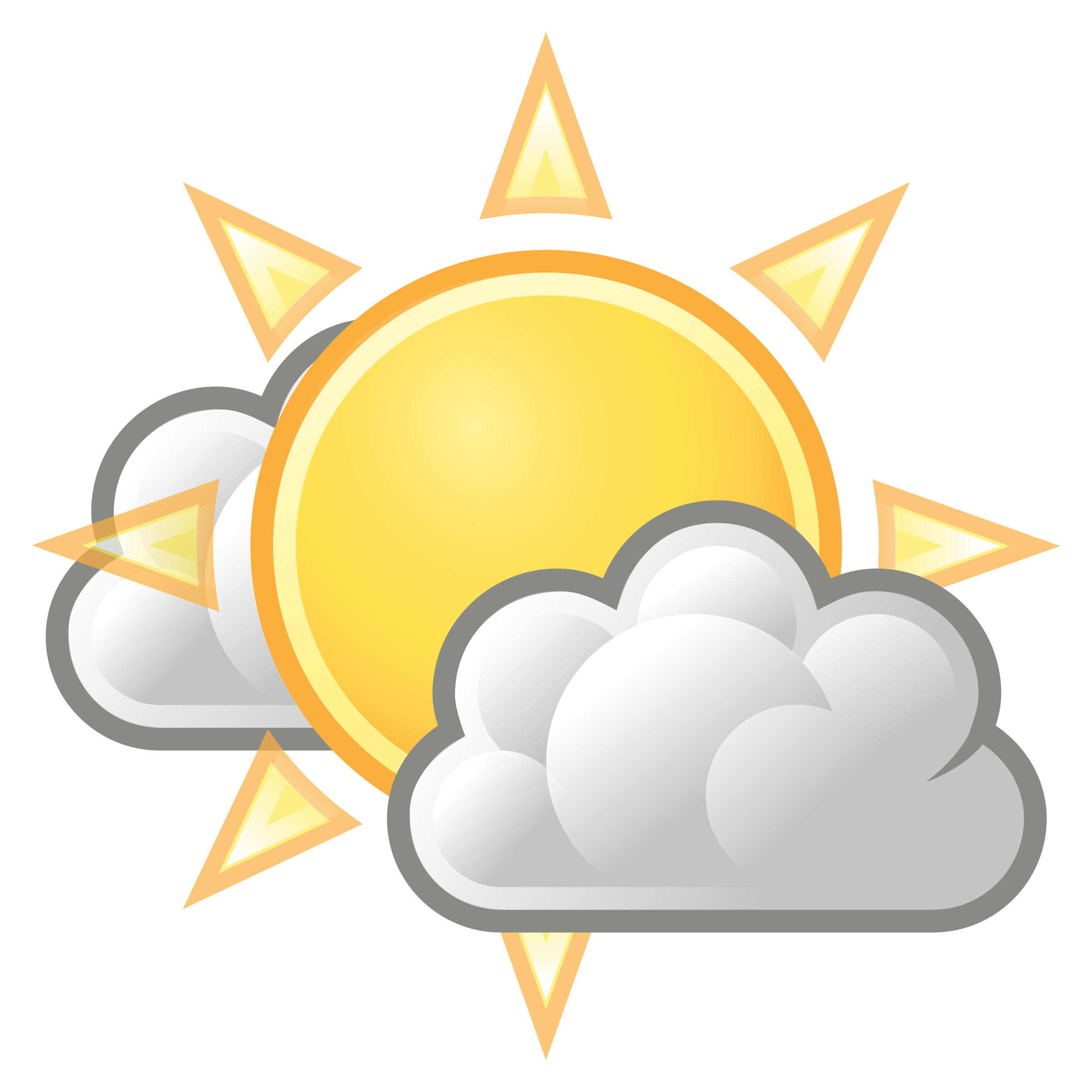 Sun clipart weather svg library stock Clipart - tango weather few clouds svg library stock