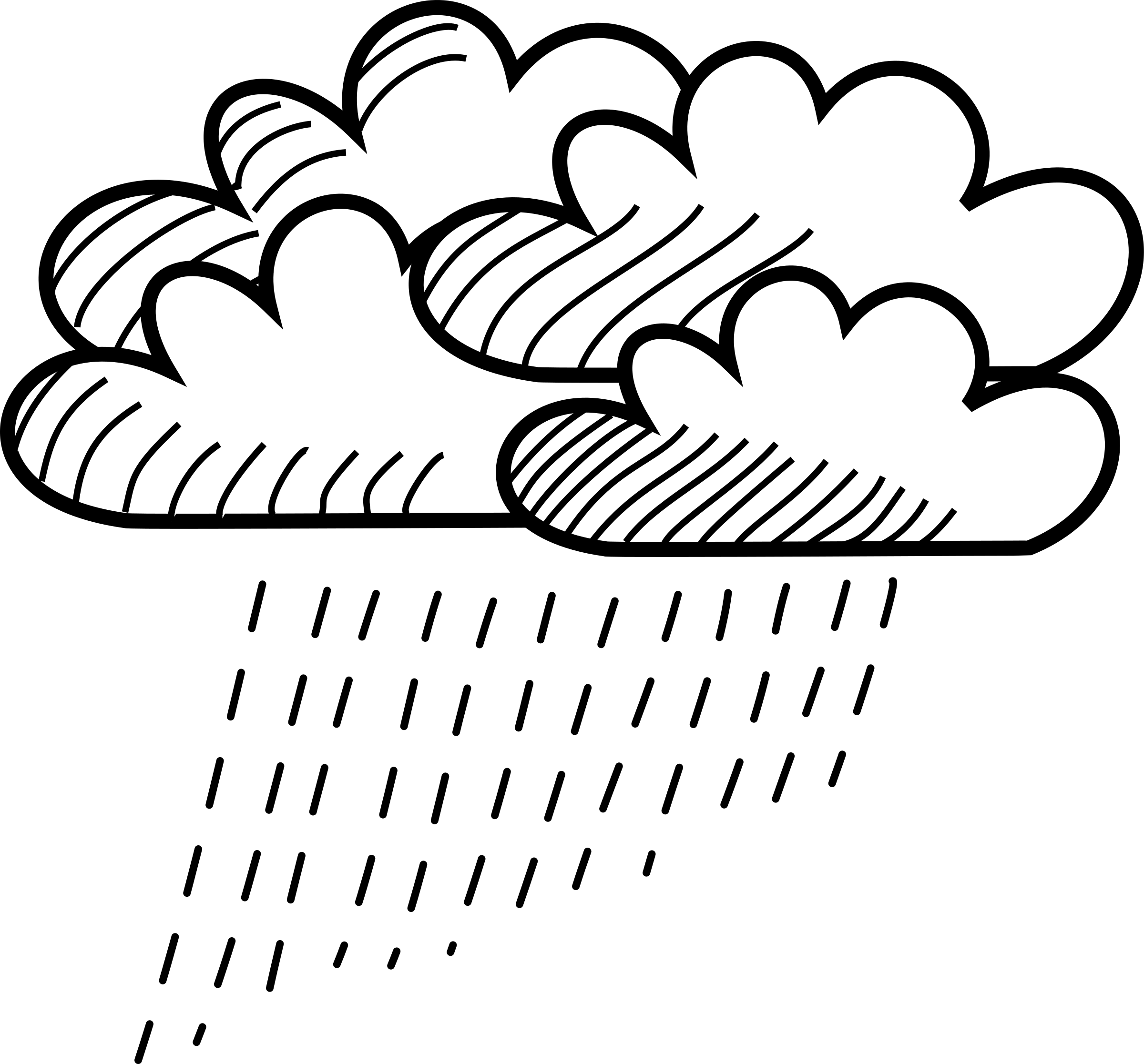 Sun and clouds clipart black and white clip library stock Rain Clipart Black And White Free collection | Download and share ... clip library stock