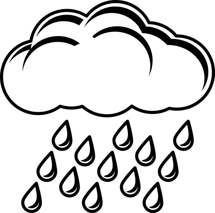 Sun and clouds clipart black and white vector freeuse stock Clouds Clipart rain - Free Clipart on Dumielauxepices.net vector freeuse stock