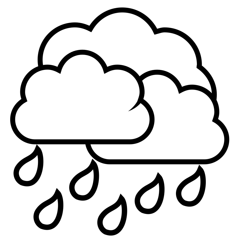 Sun and clouds clipart black and white banner freeuse download Rain Clouds Drawing at GetDrawings.com | Free for personal use Rain ... banner freeuse download