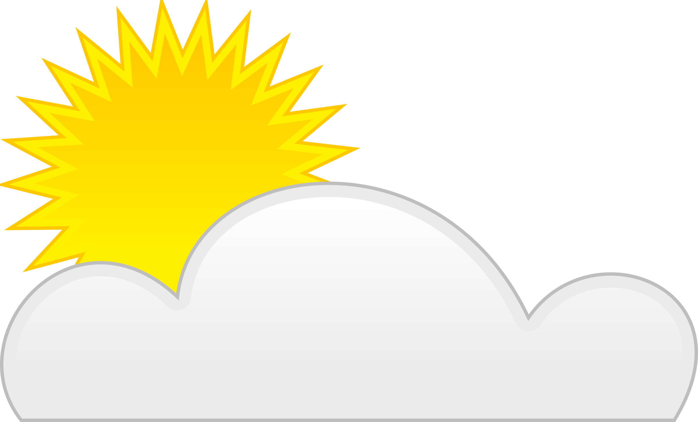 Sun and clouds clipart png black and white library Clipart - sun cloud black and white library